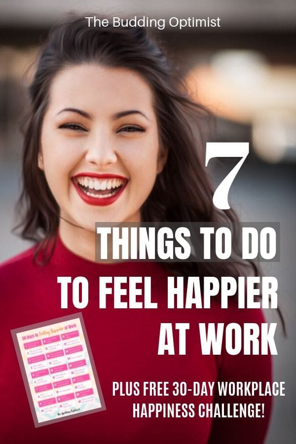 Positive attitude at work Pinterest - woman smiling